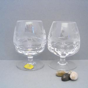2 Likör-Gläser von Ilse Kristall