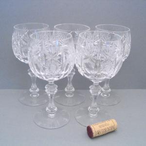 4 Wein-Gläser von Ilse Kristall