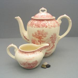 1 Teekanne, 1 Milchkännchen von Villeroy & Boch